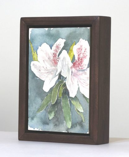 White Azalea in Floater Frame view from the right