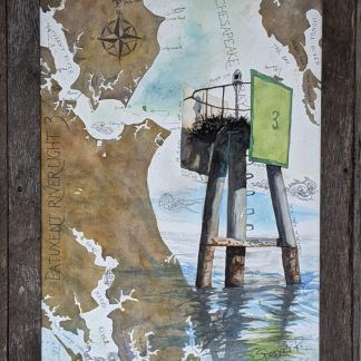 Patuxent River Light 3 Framed